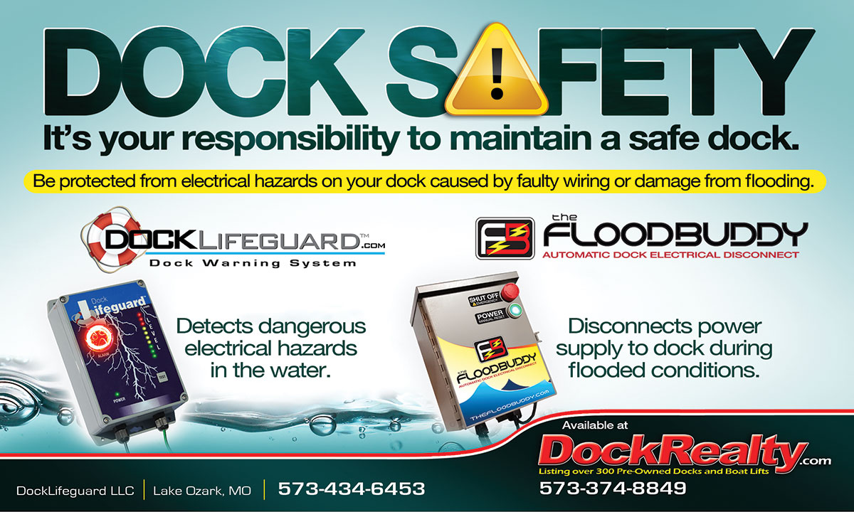 Dock Saftey. It is your responsibility to maintaina safe dock.